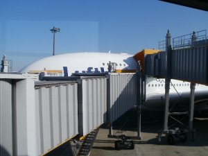 A380へのブリッジ