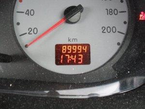90000km直前